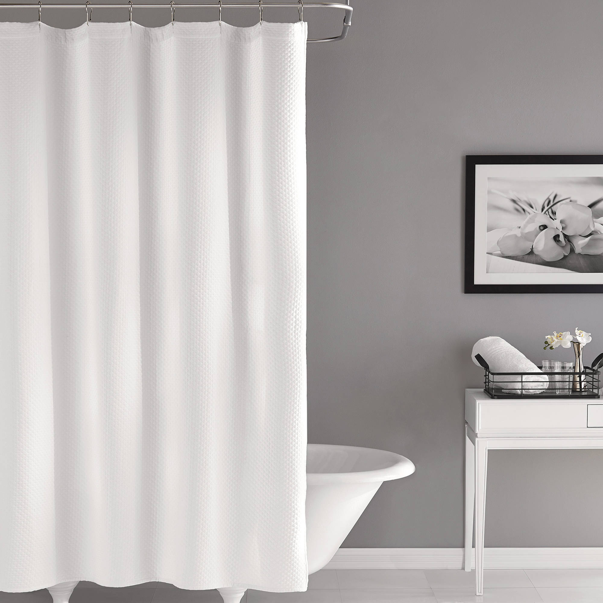 hotel style matelasse shower curtain 1 each walmart com