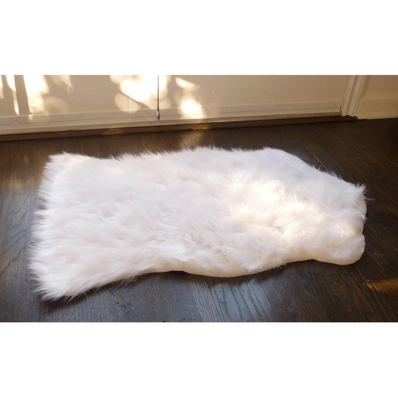 home dynamix silky sheepskin faux fur area rug