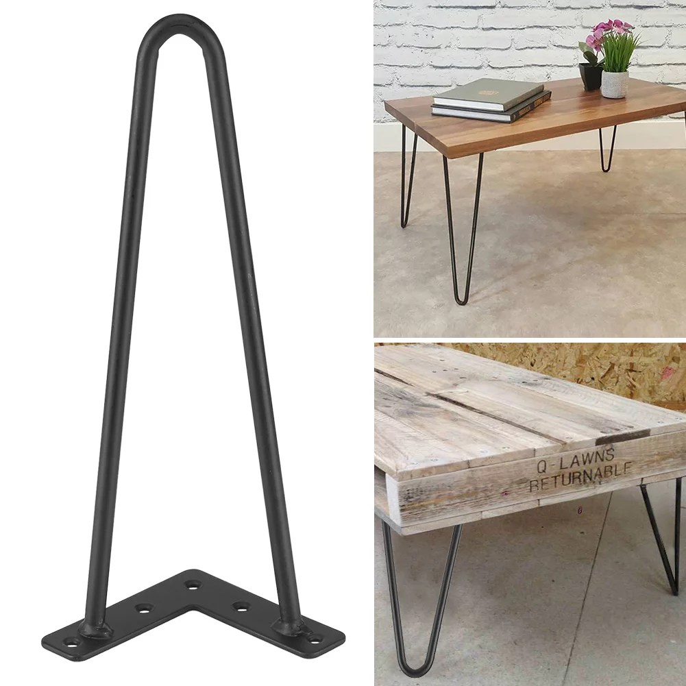 hairpin metal table leg 4pcs 2 rods iron table desk leg coffee table leg 8 12 16 28 inch length hairpin leg home accessories for diy handcrafts