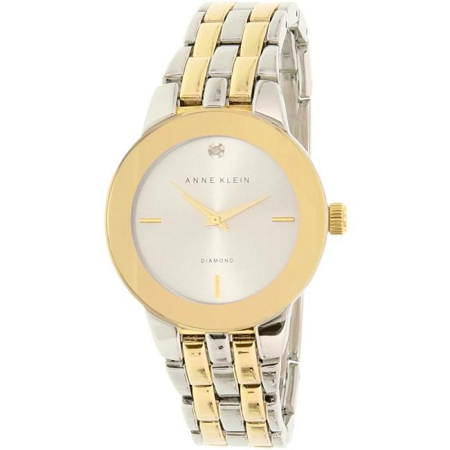 Anne Klein Women's AK-1931SVTT Gold Stainless-Steel Quartz Fashion Watch