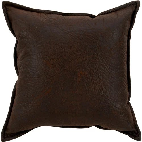 better homes gardens faux leather pillow