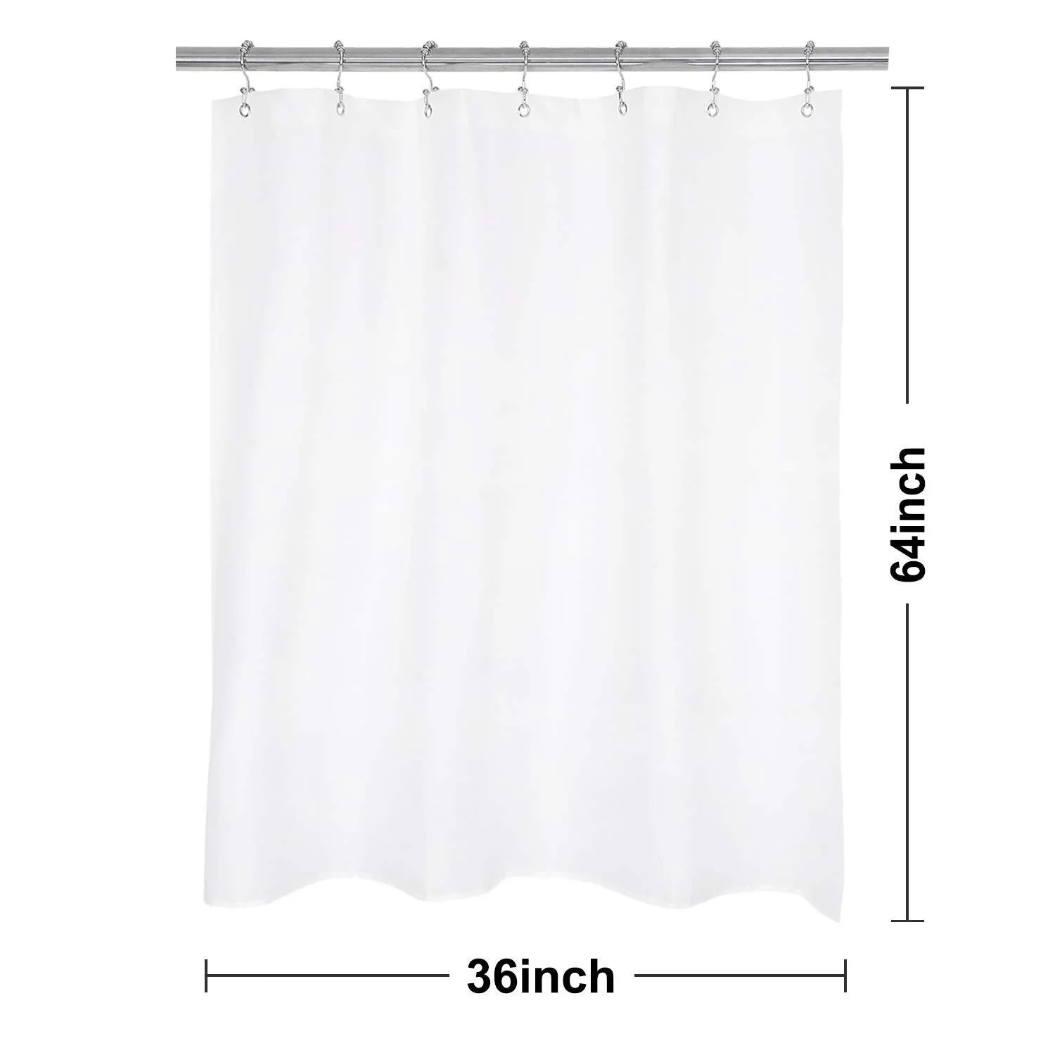 n y home rv shower curtain or liner 36 w x 64 h with magnets washable fabric water repellent white bathroom curtains with grommets 36x64 36 x64