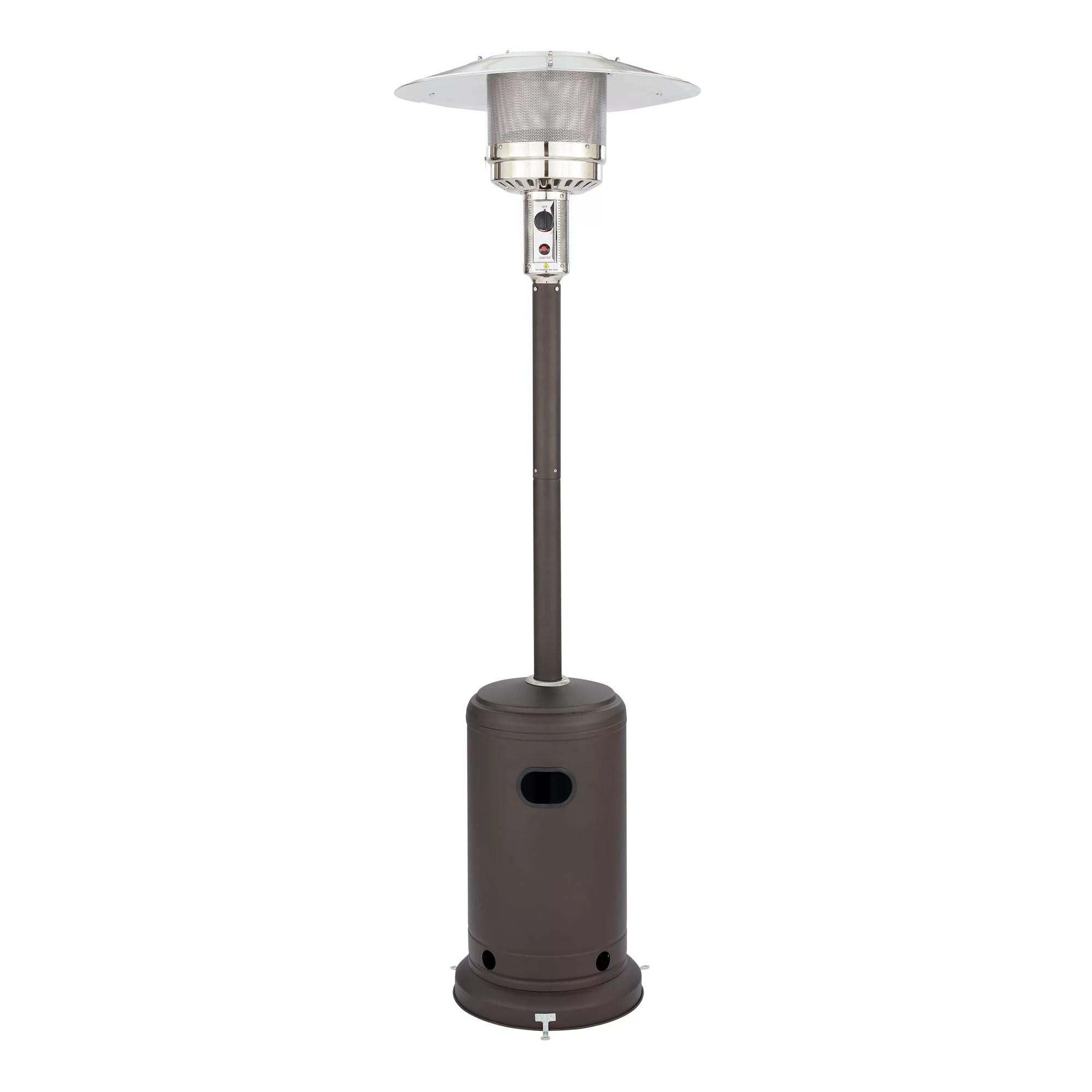 tall mocha mainstays patio heater walmart com