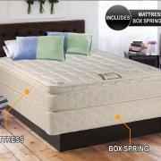 Dreamy Collection Fully Assembled Eurotop Pillowtop Mattress And Box Spring Set Spinal Back
