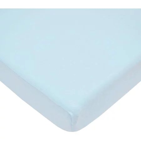 American Baby Co. Cotton Fitted Crib Sheet, Blue