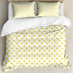 Yellow Duvet Cover Set Picnic Like Cute 50s 60s 70s Retro Themed Yellow Spotted White Pattern Print Decorative Bedding Set With Pillow Shams Yellow And White By Ambesonne Walmart Com Walmart Com