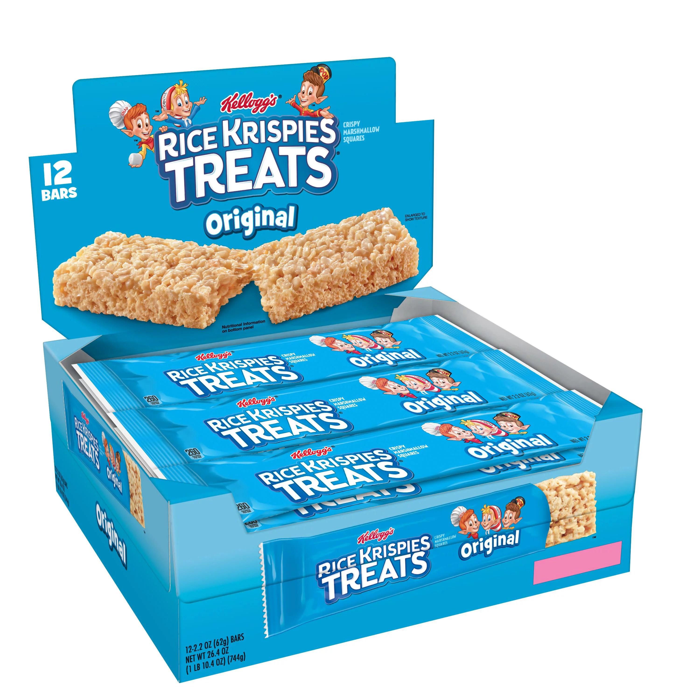 Kellogg S Rice Krispies Treats Original Marshmallow Big Bar Square 2 2 Oz 12 Count Walmart Com Walmart Com