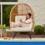 Better Homes And Gardens Ventura Boho Stationary Wicker Egg Chair Walmart Com Walmart Com