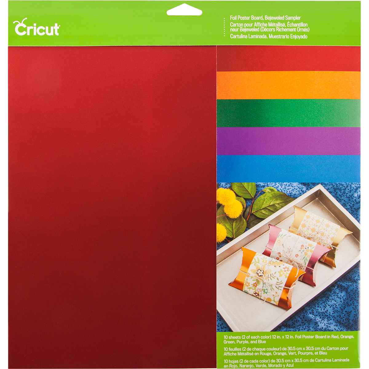 cricut poster board paper bejeweled sampler 12 x12 10 sheets