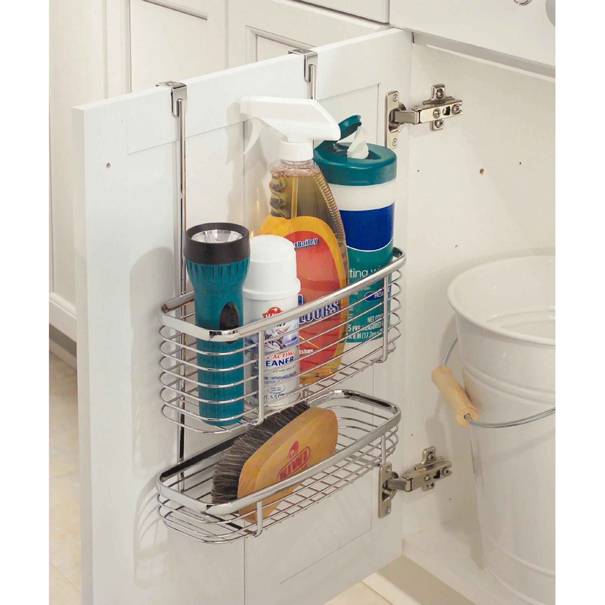 interdesign kitchen over the cabinet basket silver