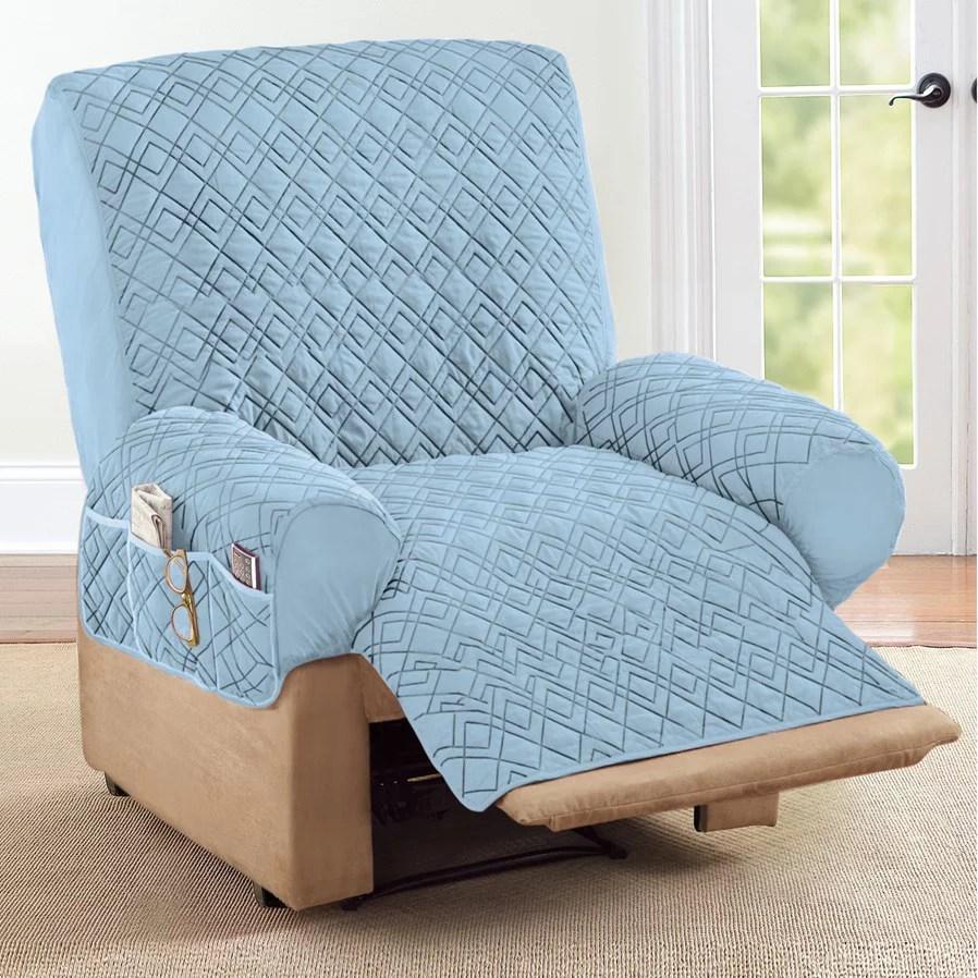 recliner chair covers blue walmart com