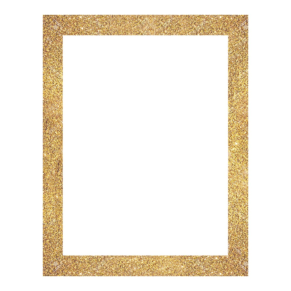 pen gear white poster board with gold glitter frame 22 x 28