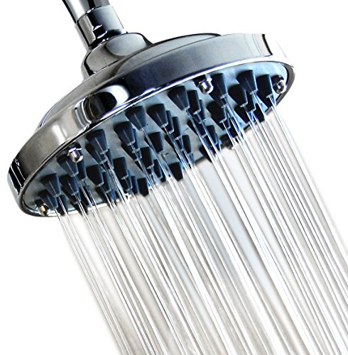 6 Inch High Pressure Rainfall Massage Shower Head Disassembled Clean Nozzles Bathroom Showerhead Low Flow Showers Wall Mount Chrome