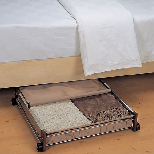 rolling under bed organizer