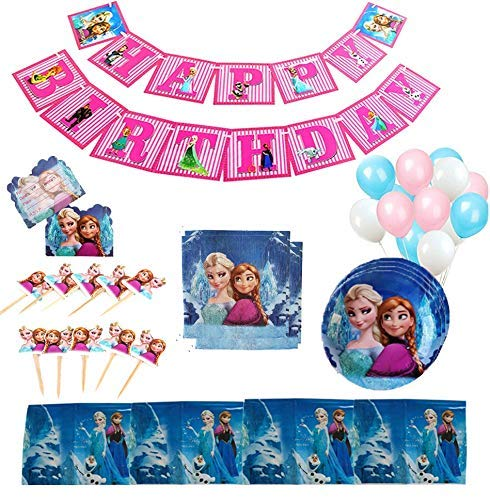 Gk Galleria Frozen 2 Birthday Party Supplies For 12 Princesses With 60 Plus Items Birthday Party Supplies Frozen Party Supplies Princess Birthday Party Supplies Princess Party Decorations Walmart Com Walmart Com