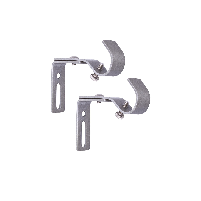 better homes gardens adjustable curtain rod bracket set 5 8 in diameter walmart com