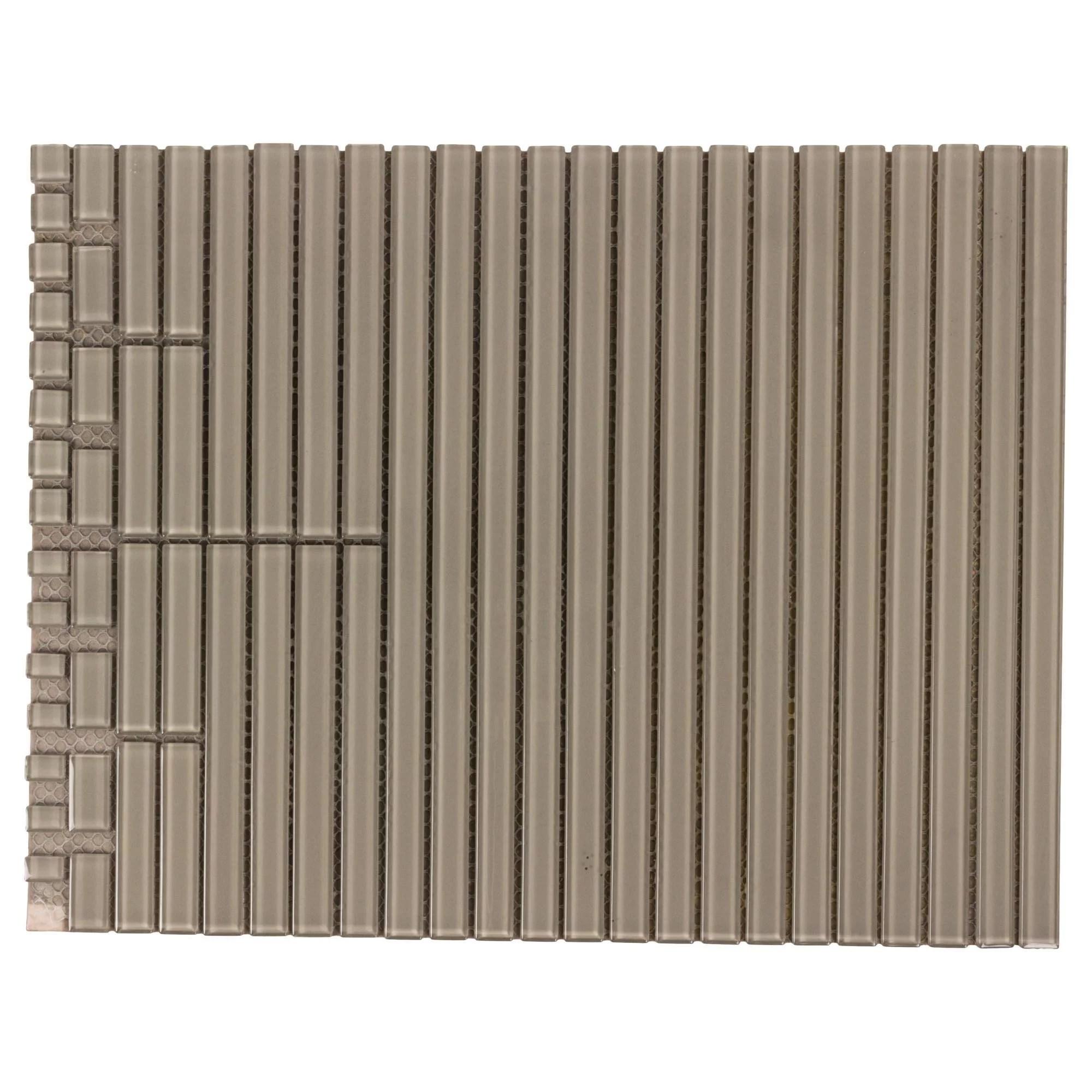 mto0433 peel and stick modern liner molding beige glossy glass mosaic tile walmart com walmart com