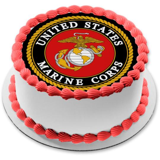 United States Marine Corps Logo Eagle Globe Anchor Edible Cake Topper Image Abpid03182 Walmart Com Walmart Com