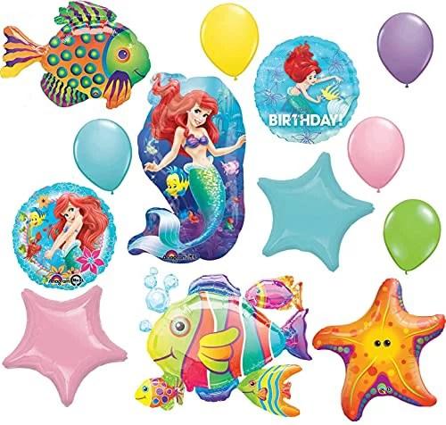 Little Mermaid Birthday Party Supplies Ariel S Ultimate Undersea Balloon Bouquet Decorations Walmart Com Walmart Com