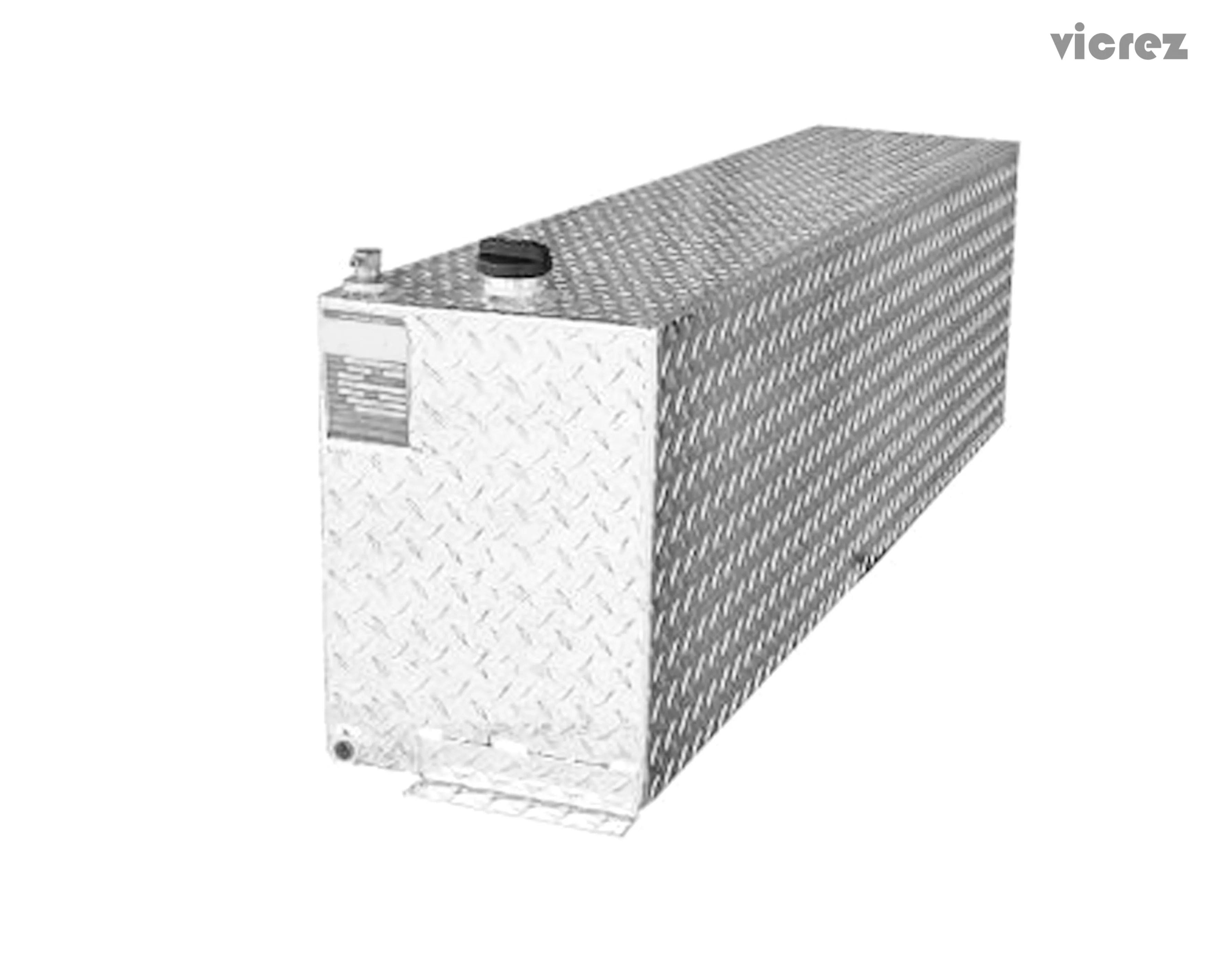 Vicrez Aluminum Tank 46 Gallonssel Auxiliary Rectangle
