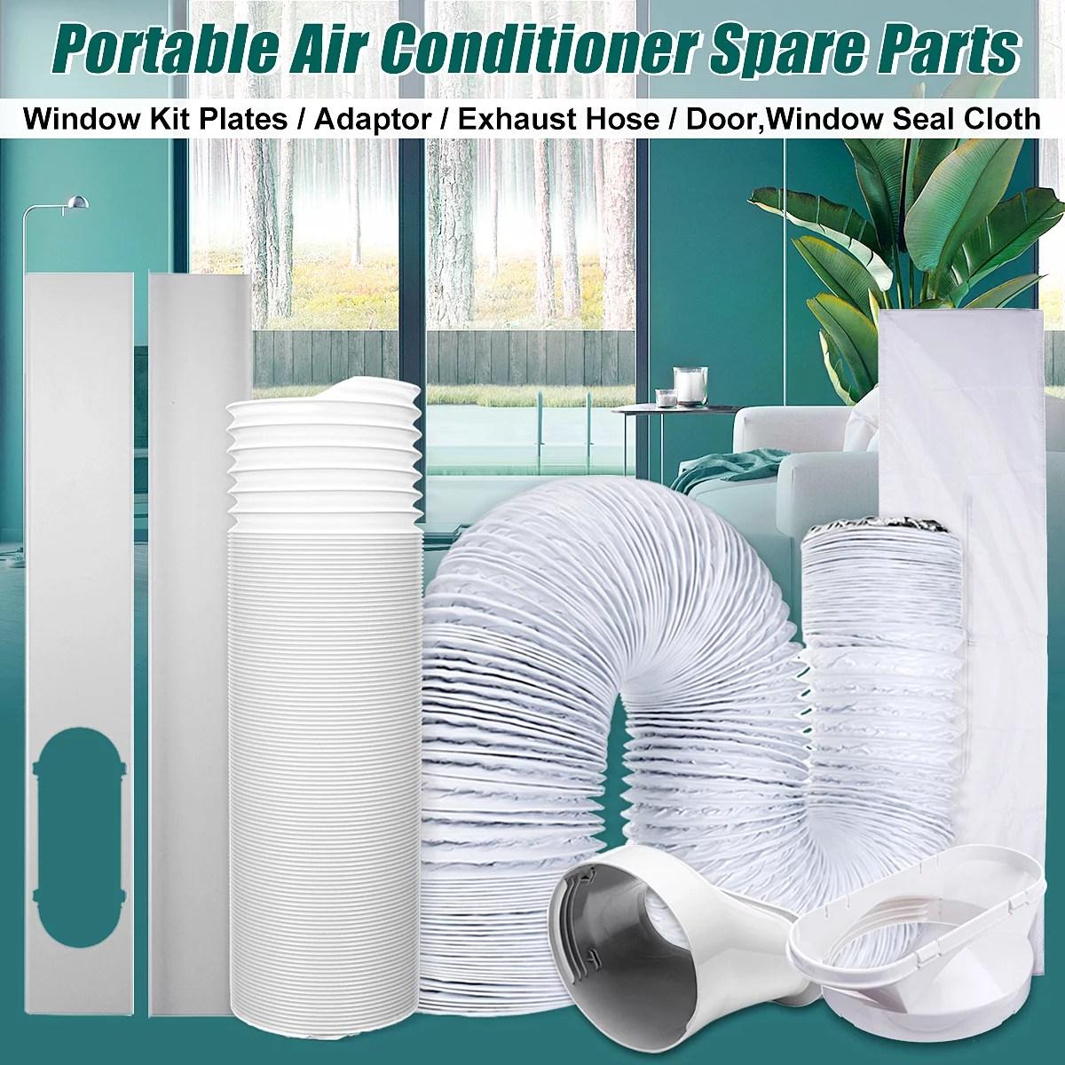 portable air conditioner window vent kit window slide kit plate portable exhaust hose flexible vent hose parts for portable air conditioner