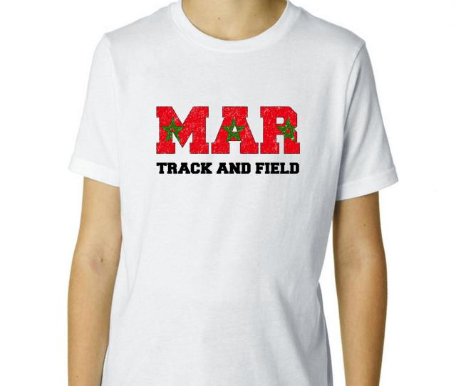Morocco Track And Field Olympic Games Rio Flag Boys Cotton Youth T