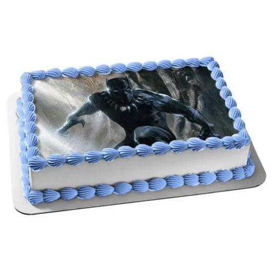 Black Panther Marvel Comics Edible Cake Topper Image Abpid04594 Walmart Com Walmart Com