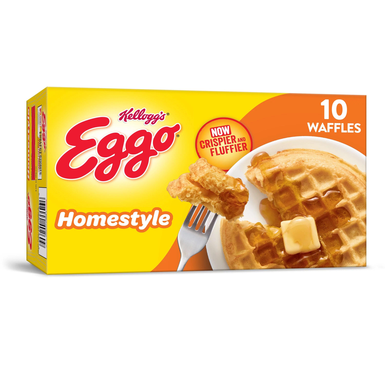 kellogg s eggo homestyle waffles 12 3 oz 10 ct frozen walmart com