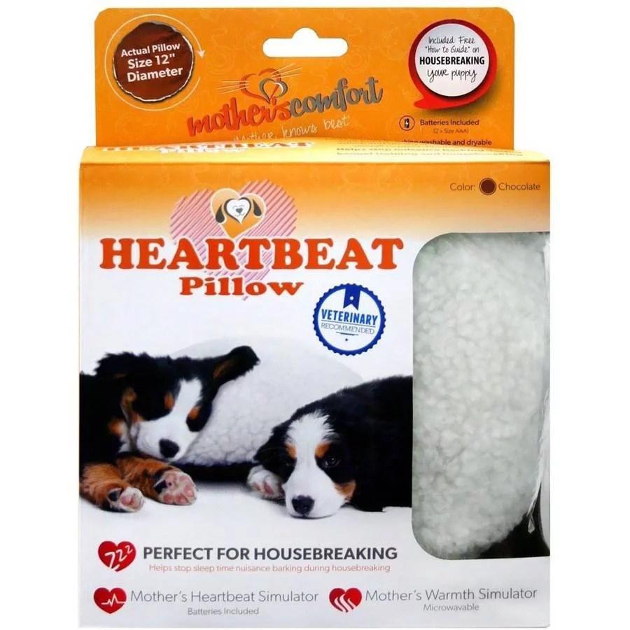 petzu mother s comfort heartbeat pillow chocolate white walmart com