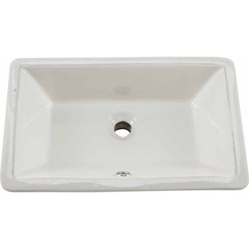 magnus sinks 18 in x 11 in glazed porcelain bathroom sink in white