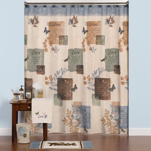 saturday knight ltd faith polyester shower curtain