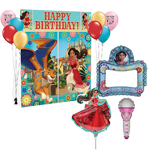 Elena Of Avalor Party Supplies Birthday Party Selfie Frame Balloon Kit Walmart Com Walmart Com