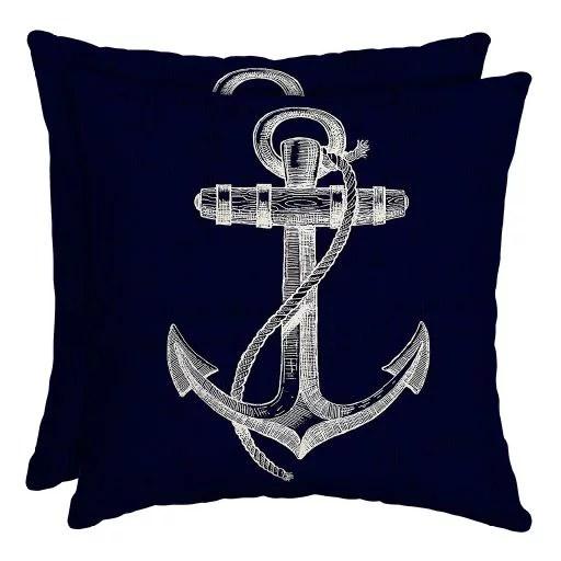 mainstays regatta anchor 16 outdoor throw pillow set of 2