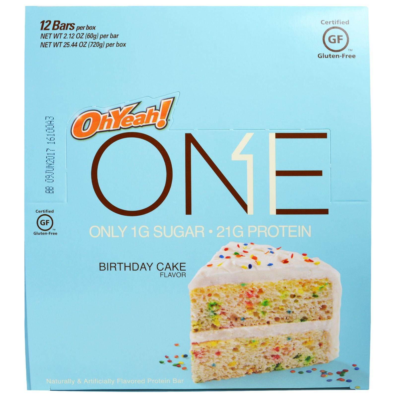 Oh Yeah One Bar Birthday Cake 12 Bars 2 12 Oz 60 G Each Pack Of 2 Walmart Com Walmart Com