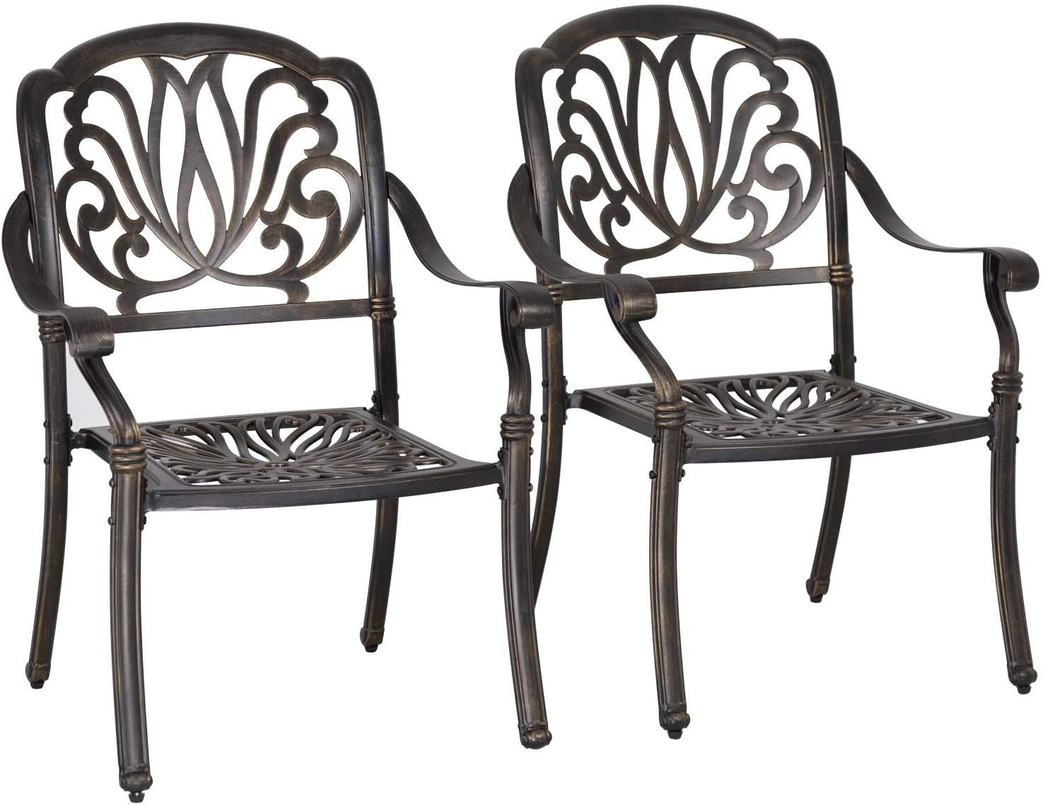 patio chairs dining chairs set of 2 wrought iron patio furniture outdoor chair patio furniture chat set weather resistant