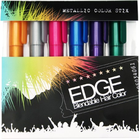 hair chalk metallic glitter temporary hair color edge chalkers lasts up to 3 days no mess