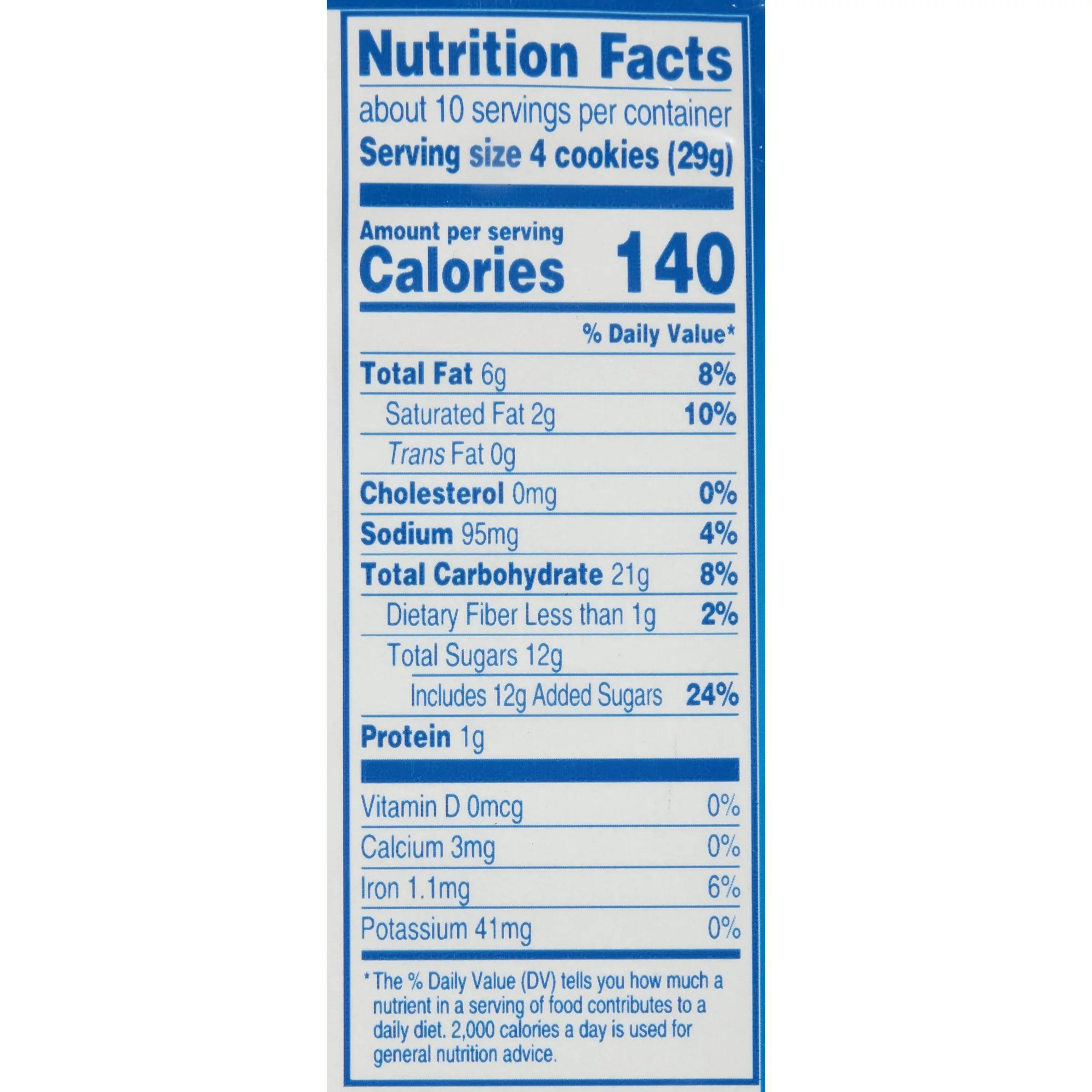 33 Oreo Cookie Ingre Nts Label