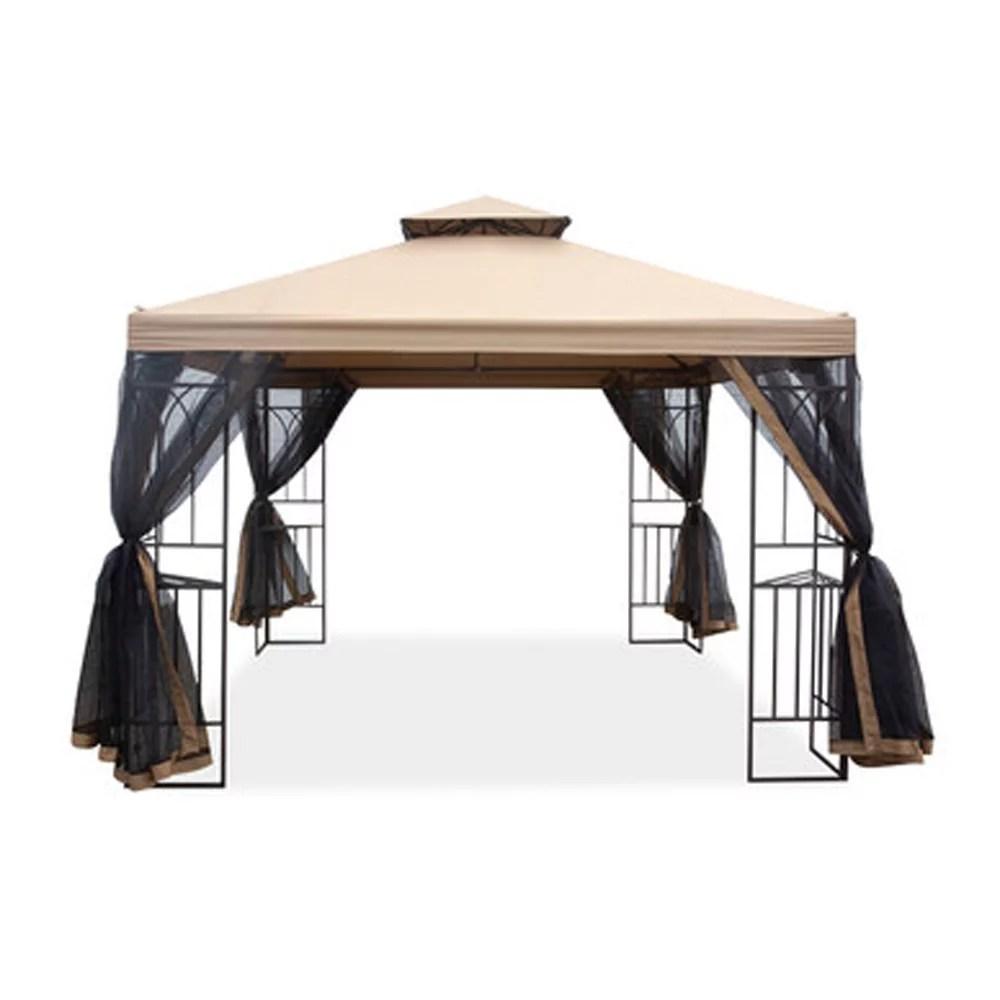 garden winds replacement canopy top cover for aldi gardenline 2019 gazebo standard 350 walmart com