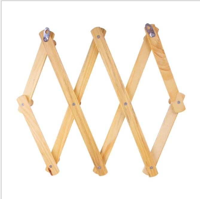 chainplus 10 hook burnt wood wall mounted expandable accordion peg coat rack hanger walmart com