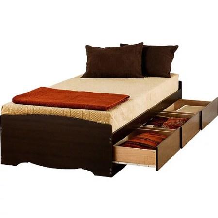 Edenvale Twin Xl 3 Drawer Platform Storage Bed Espresso