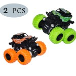 Hatiny 2 Pack Monster Truck Toys For Boys And Girls Inertia Car Pull Back Vehicle Playsets Friction Powered Push And Go Toy Cars Birthday Party Supplies For Toddlers Kids Ages 3