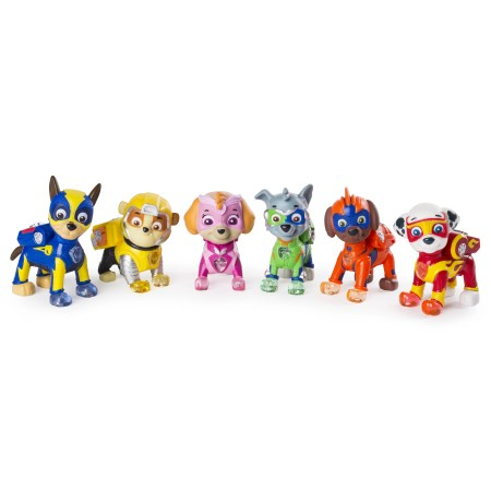 PAW Patrol - Mighty Pups 6-Pack Gift Set, PAW Patrol Figures with Light-up Badges and Paws, Wal-Mart Exclusive, for Ages 3 and Up