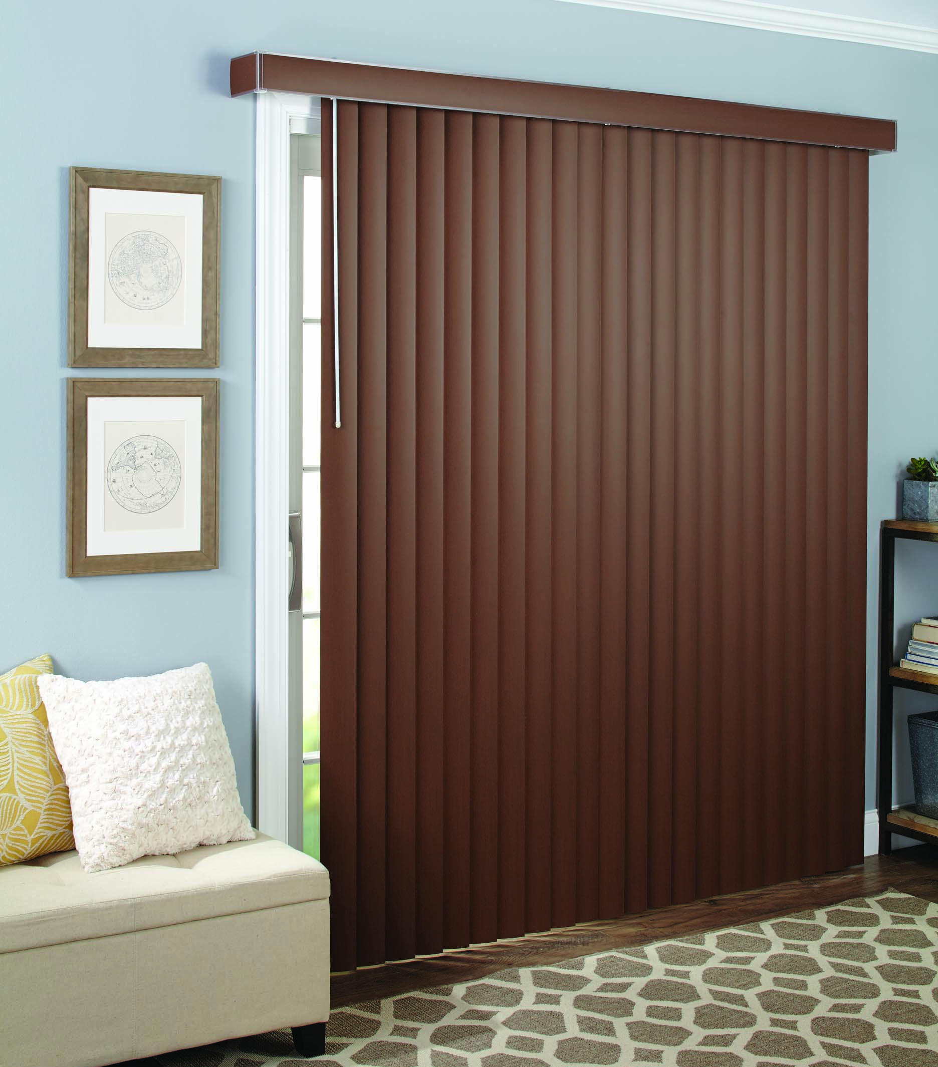 better homes and gardens vertical window blind wood grain 3 5