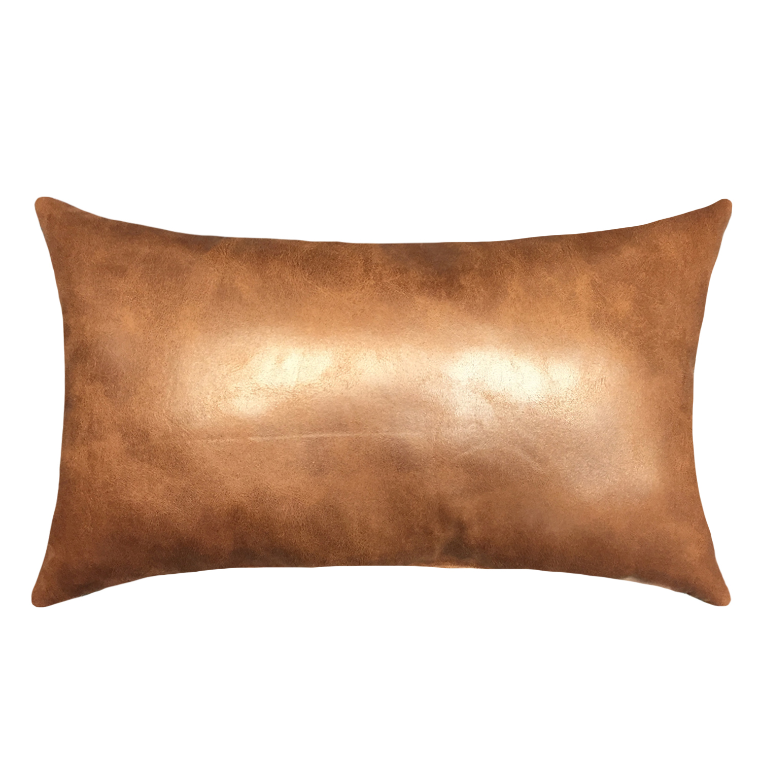 mainstays oblong faux leather decorative throw pillow 15 x 24 brown