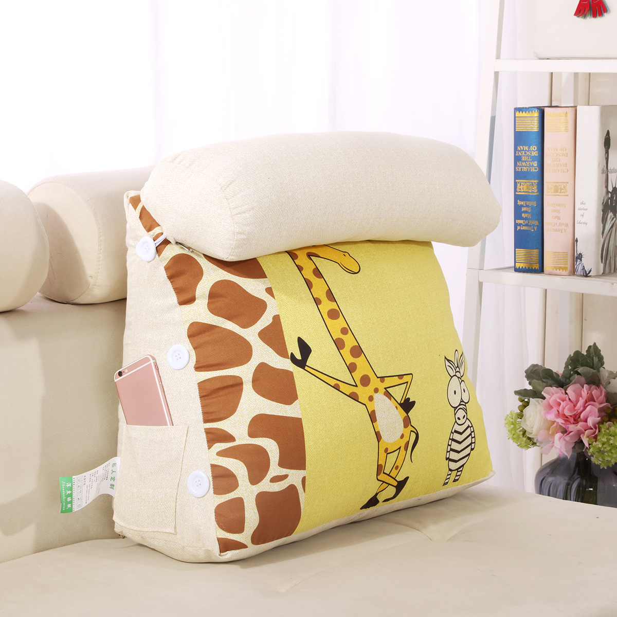 cartoon wedge shaped reading tv pillow with adjustable neck pillow triangle back cushion pillow for sofa bed office chair rest pillow back support