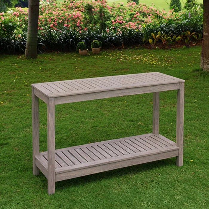 stonne patio console table weathered grey walmart com