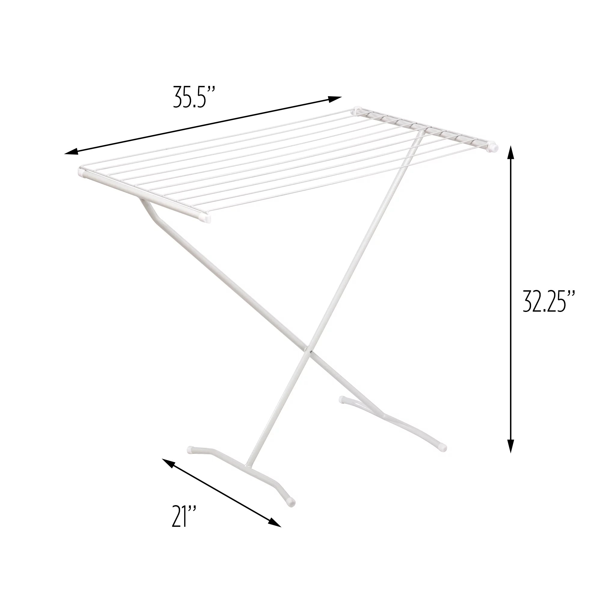 mainstays folding metal clothes drying rack silver
