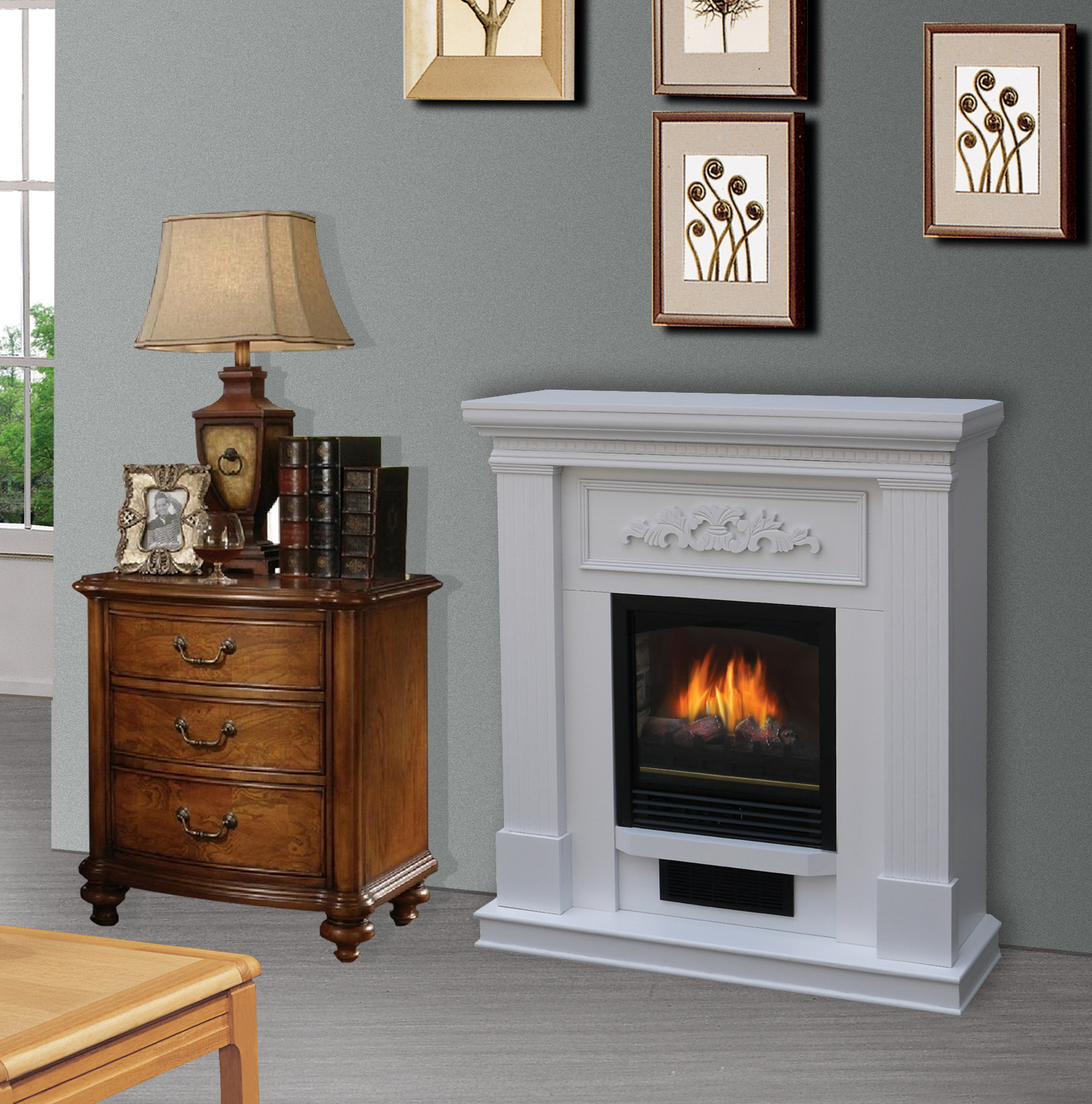 Bold Flame 38 Inch Wall Corner Electric Fireplace Heater