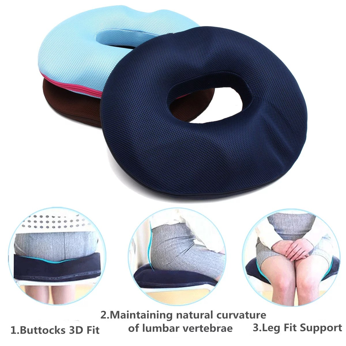 donut pillow hemorrhoid cushion for women memory foam donut seat cushion tailbone pain relief cushion for pregnancy coccyx bed sores back