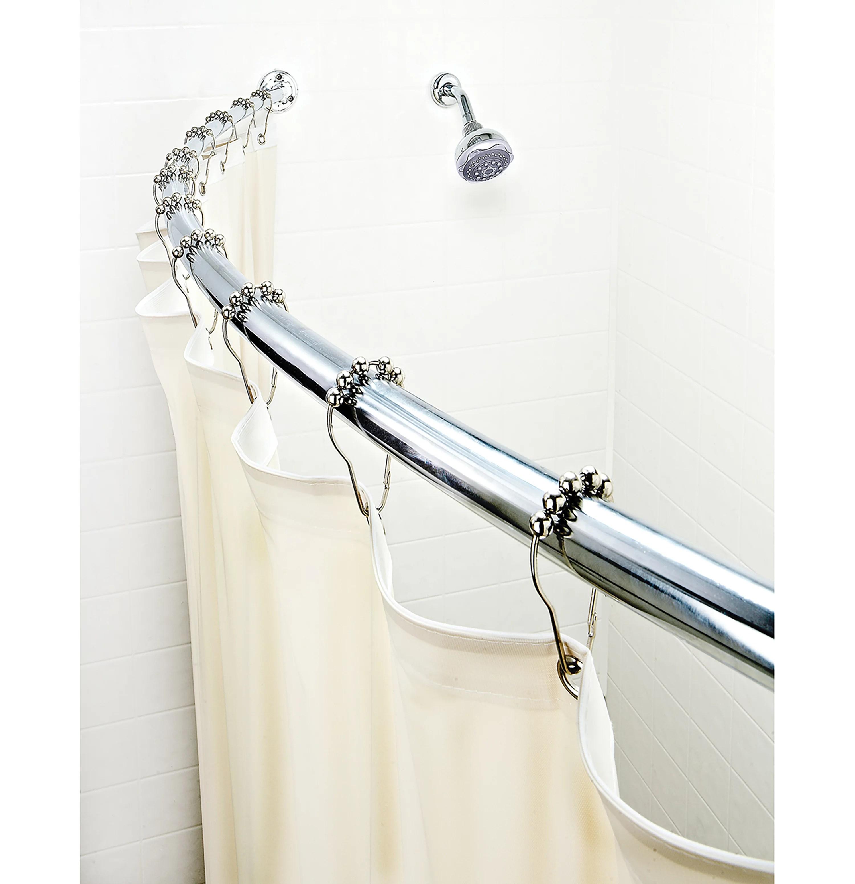 bath bliss curved chrome shower rod walmart com walmart com